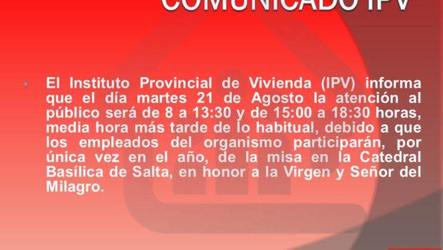 COMUNICADO IPV
