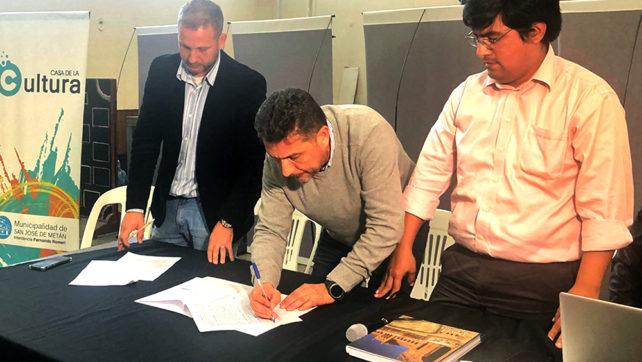 Firmaron convenio por la obra de infraestructura para 157 lotes en Metán